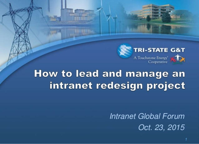 1 Intranet Global Forum Oct. 23, 2015