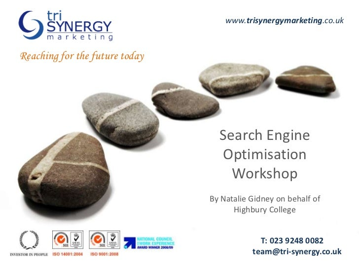 www.trisynergymarketing.co.uk<br />Reaching for the future today<br />Search Engine Optimisation Workshop<br />By Natalie ...