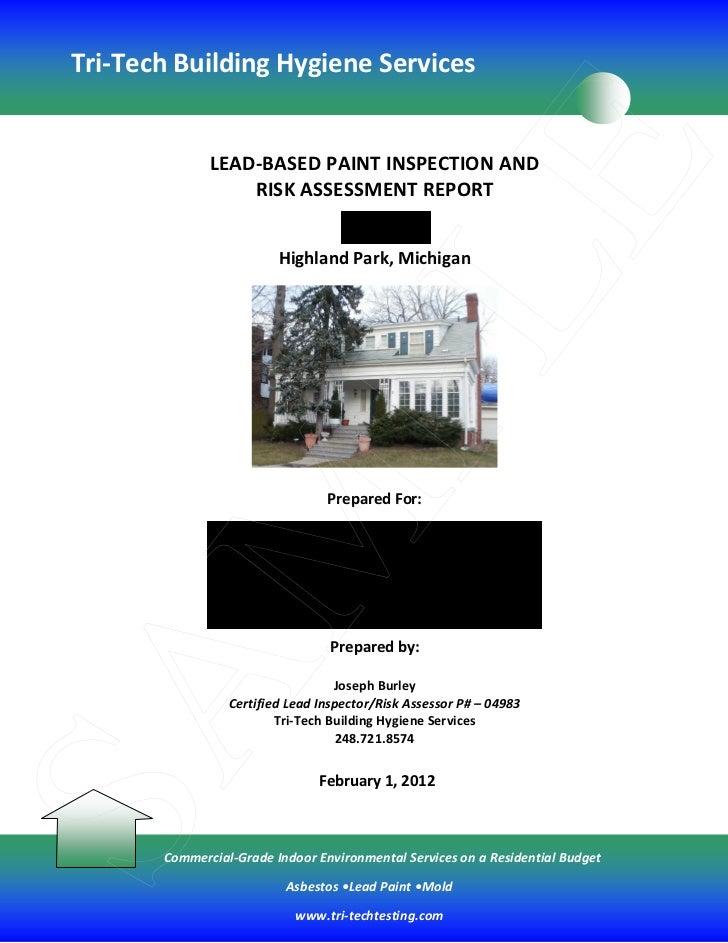 Tri-Tech Building Hygiene Services                                                        E              LEAD-BASED PAINT ...