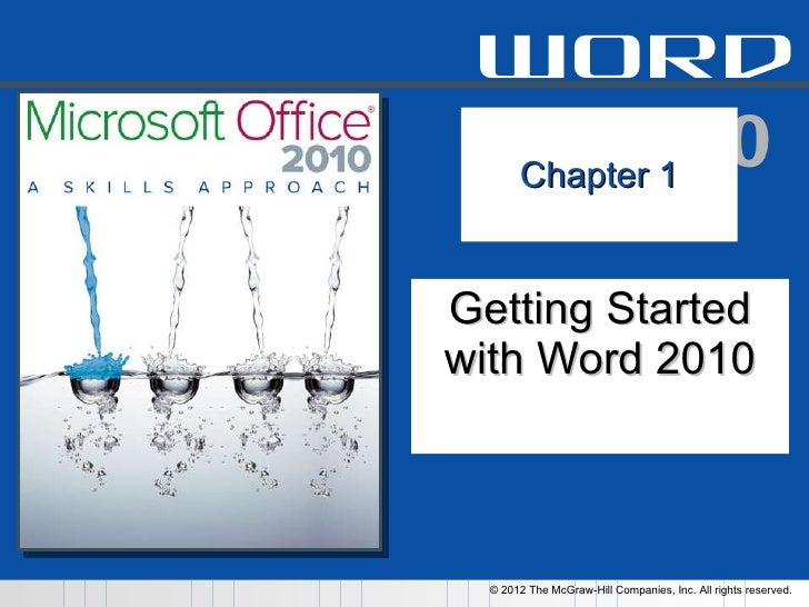 Chapter 1 Getting Started with Word 2010
