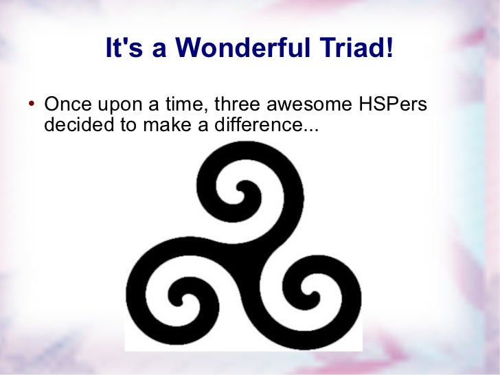 It's a Wonderful Triad! <ul><li>Once upon a time, three awesome HSPers decided to make a difference... </li></ul>