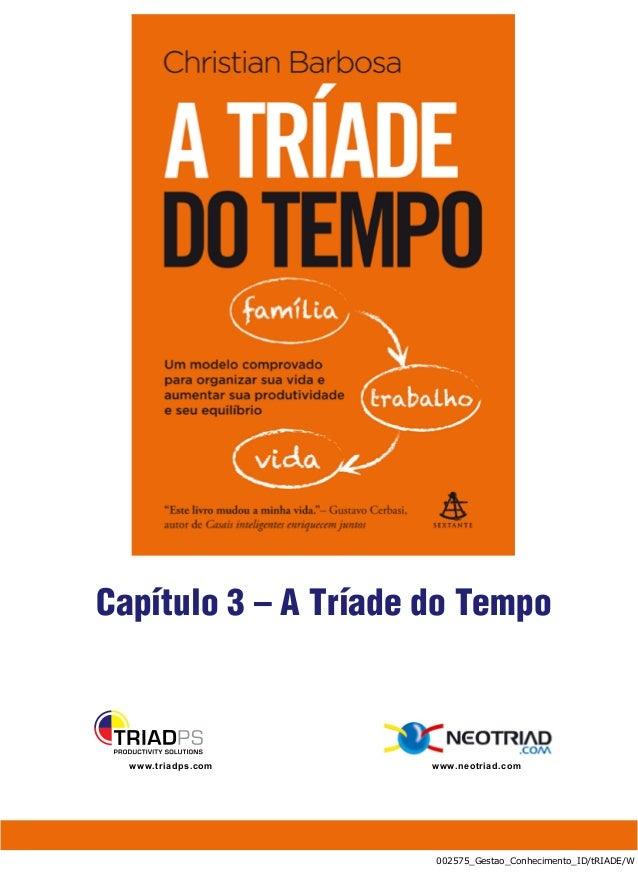 Capítulo 3 – A Tríade do Tempo  www.triadps.com     www.neotriad.com                      002575_Gestao_Conhecimento_ID/tR...