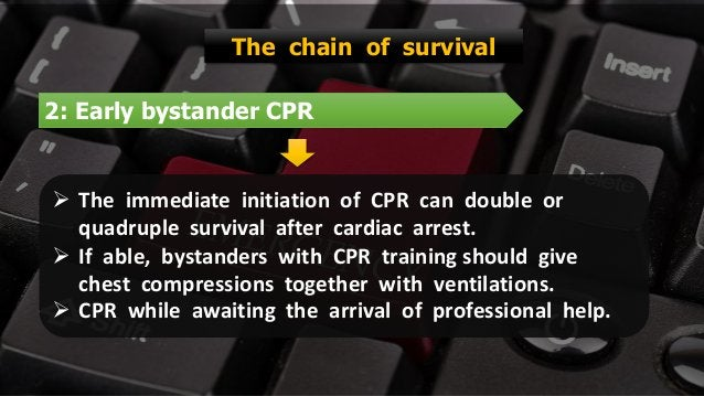 Free PowerPoint Templates 2: Early bystander CPR The chain of survival  The immediate initiation of CPR can double or qua...