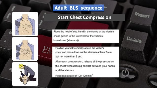 Free PowerPoint Templates Start Chest Compression Adult BLS sequence