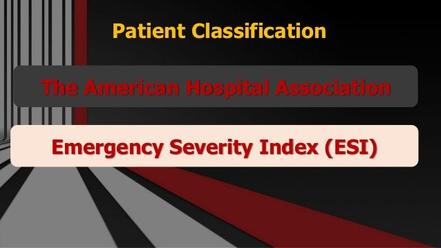 Patient Classification Free PowerPoint Templates The American Hospital Association Emergency Severity Index (ESI)