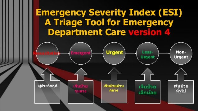 Emergency Severity Index (ESI) A Triage Tool for Emergency Department Care version 4 Free PowerPoint Templates Resuscitati...