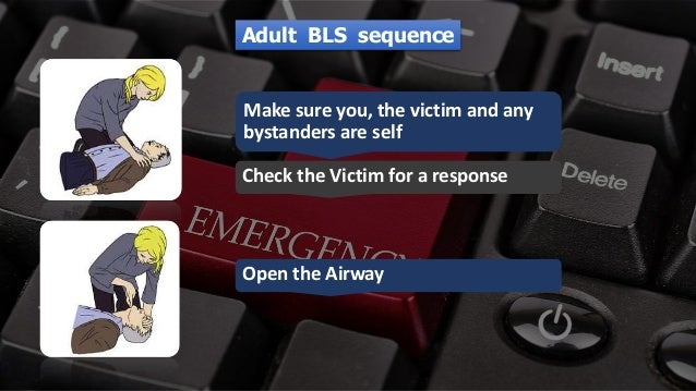 Free PowerPoint Templates Adult BLS sequence Make sure you, the victim and any bystanders are self Check the Victim for a ...