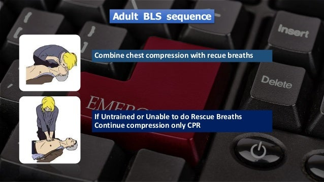 Free PowerPoint Templates Combine chest compression with recue breaths If Untrained or Unable to do Rescue Breaths Continu...