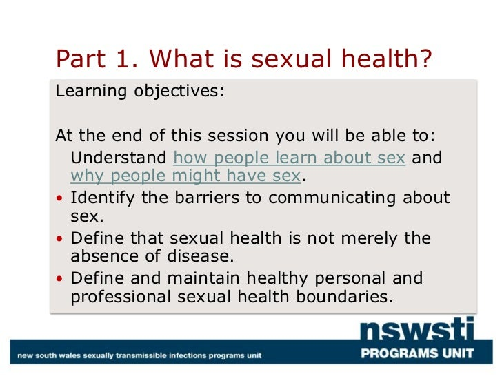 Who working definition of sexual health