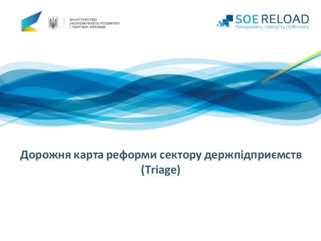 Дорожнякартареформисекторудержпідприємств (Triage)