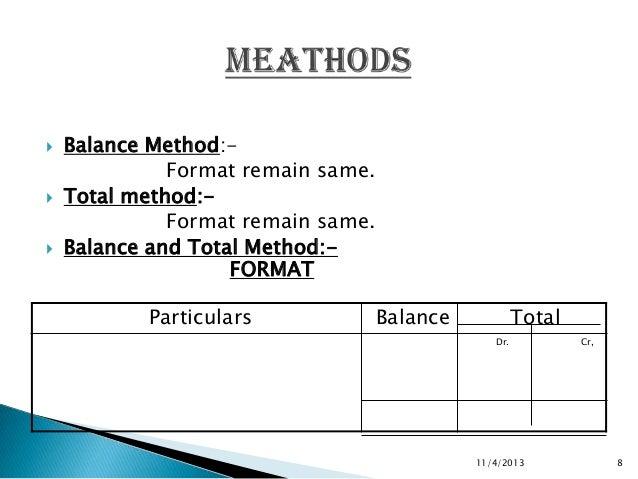 8 balance method format
