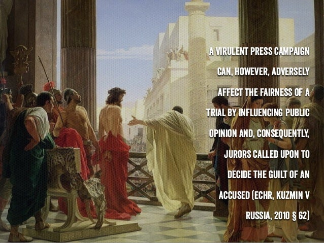 Trial by media, presumption of innocence and directive 2016/343. Slide 2