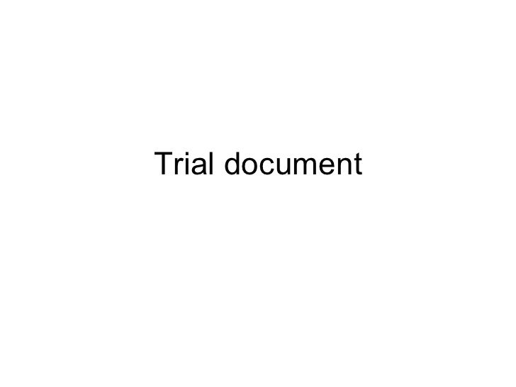 Trial document