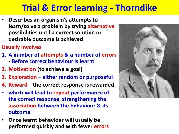 Trial & error learning Thorndike - VCE U4 Psych