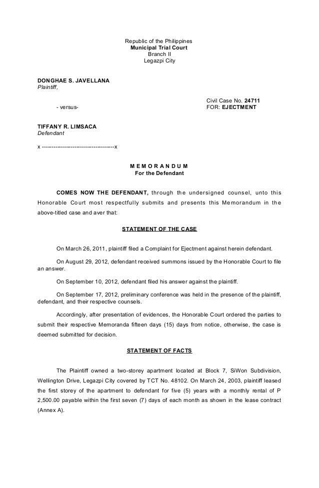 Memorandum Details Sample Memorandum Of Lease Agreement Free