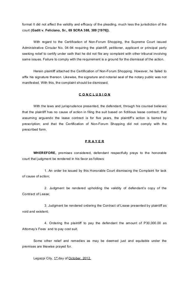 Trial memorandum the defect was merely 5 format yelopaper Images