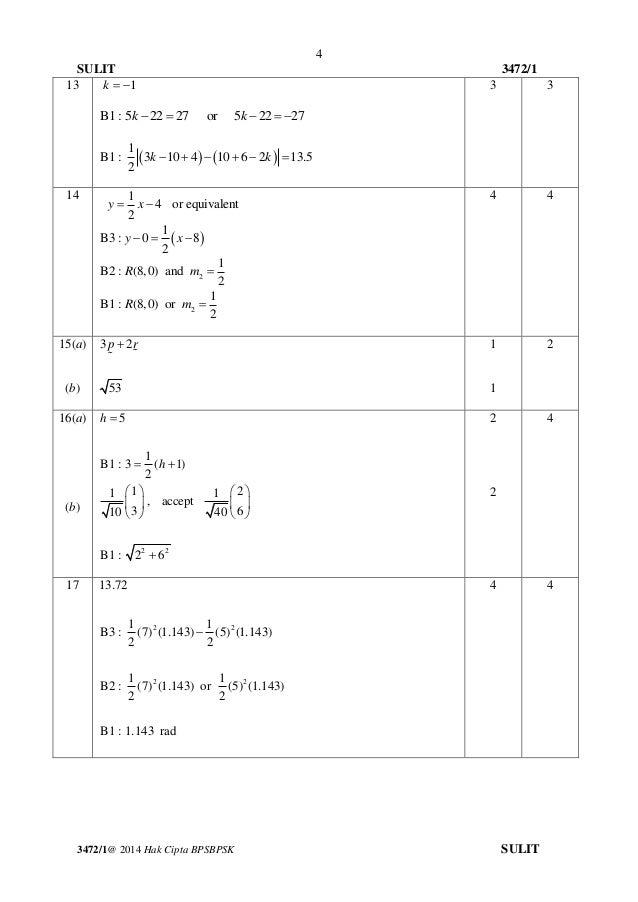 Jawapan Kertas 1 Maths Matematik Sejarah Spm 2014 Soalan Sebenar Spm Addmath Viral Blog D