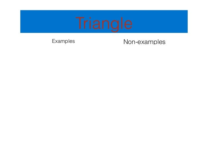 TriangleExamples         Non-examples