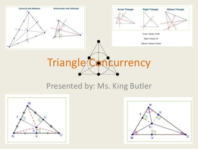 Triangle ConcurrencyPresented by: Ms. King Butler