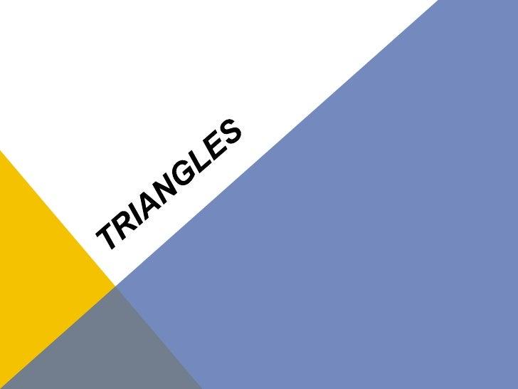Triangles<br />