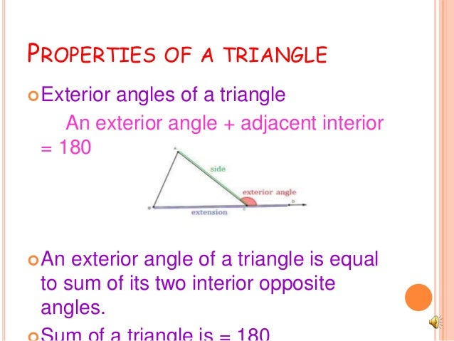 Triangles And Its Properties