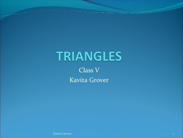 Class VKavita Grover1Kavita Grover