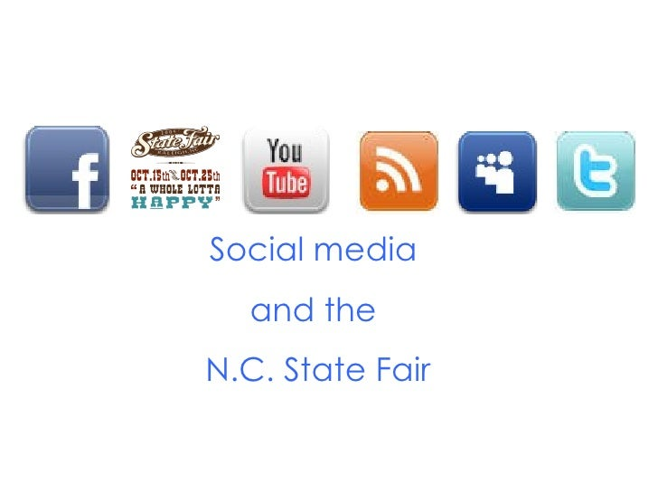 Social media  and the  N.C. State Fair