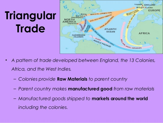 triangular trade The colonial economy depended on international trade  slavery maps  historical maps trade routes middle passage imports atlantic ocean triangular  trade.
