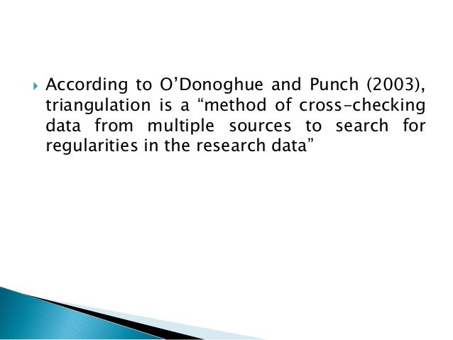 triangulation in research Get expert answers to your questions in quantitative & qualitative research and more on researchgate, the professional network for scientists.