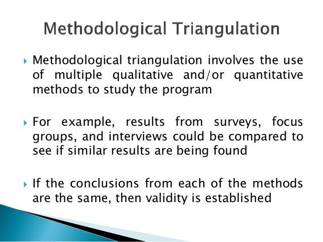 triangulation in qualitative research pdf
