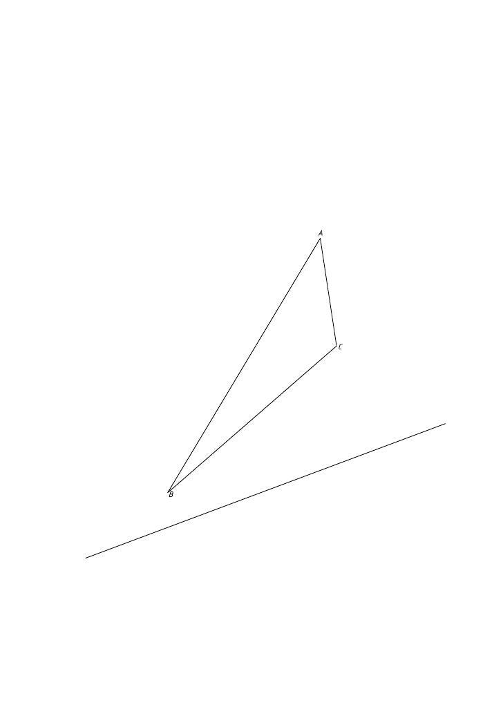 Afinidad de un triángulo sabiendo que el afín es equilátero