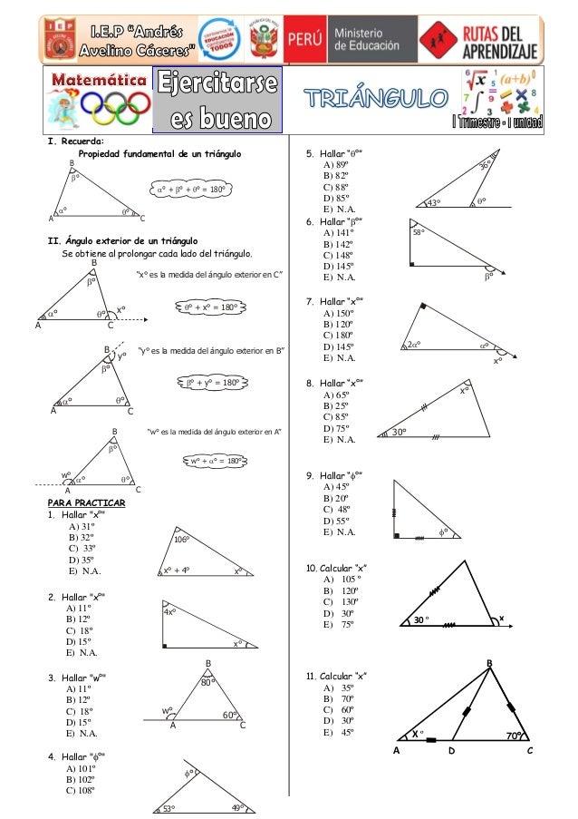triangulo propiedades