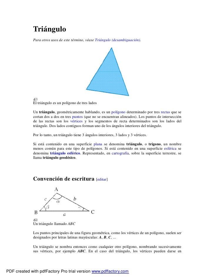 Triángulo               Para otros usos de este término, véase Triángulo (desambiguación).                   El triángulo ...