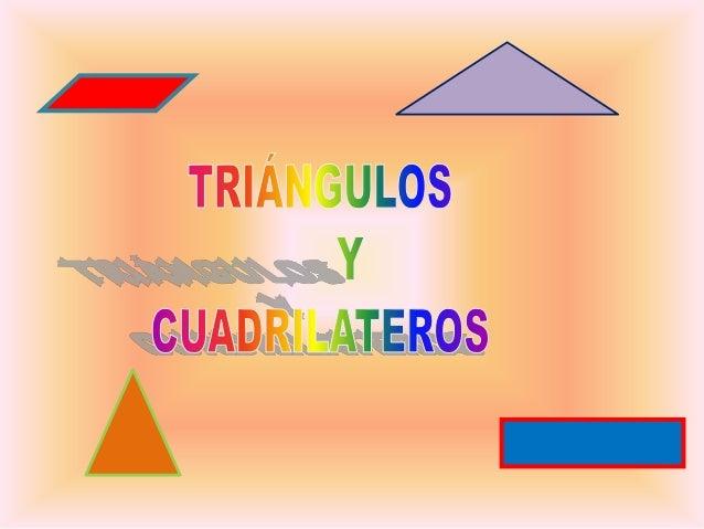 LOS TRIÁNGULOS.Un triángulo es un polígono que tiene tresvértices, tres lados y tres ángulos.