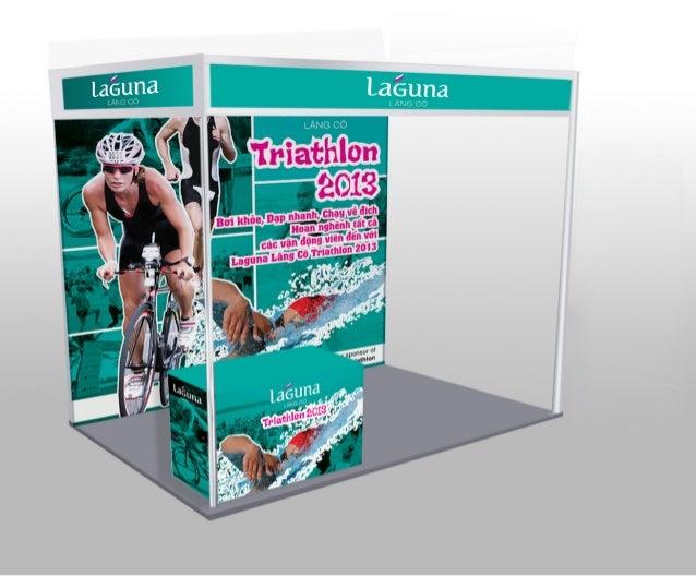 Triathlon - booth decoration