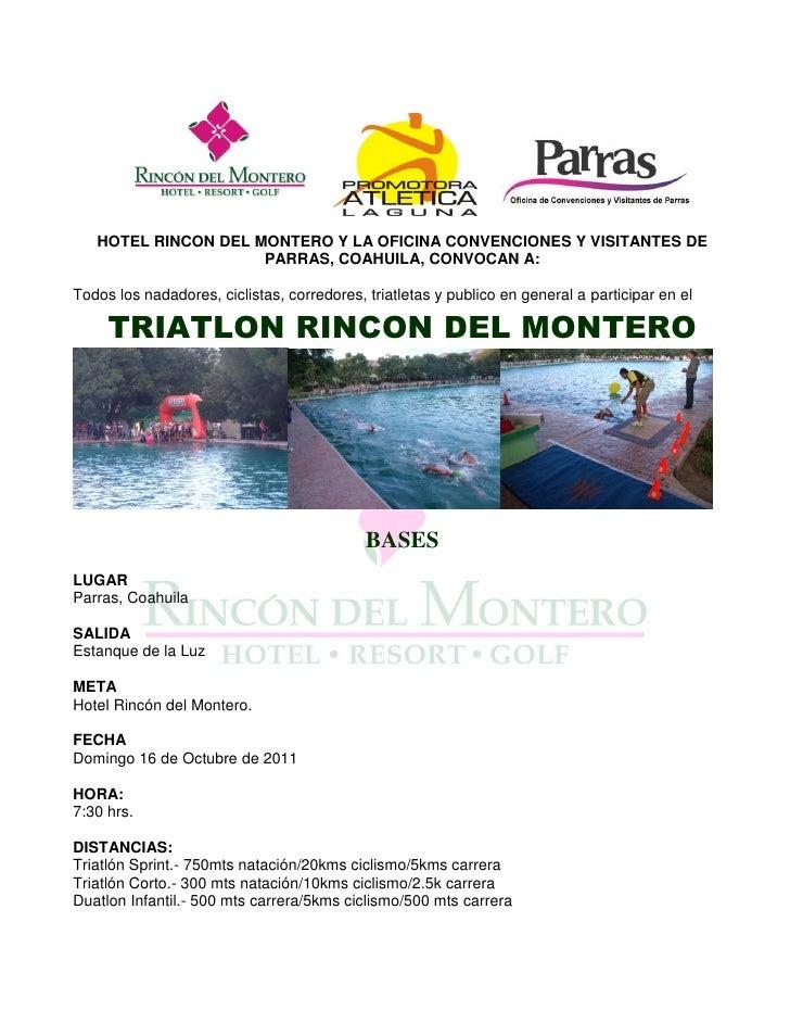 HOTEL RINCON DEL MONTERO Y LA OFICINA CONVENCIONES Y VISITANTES DE                     PARRAS, COAHUILA, CONVOCAN A:Todos ...