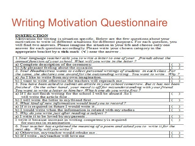 questioner for motivation in elopement Uses the scientific principles of learning and motivation in order to effectively teach  property misuse, self-injury, elopement sensory related behaviors .
