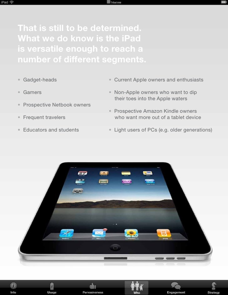 how will the iPad engage        your consumers?     v