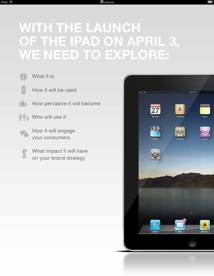 Tribal DDB iPad Briefing Slide 2