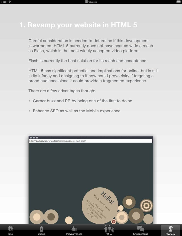 2. create a native iPad application    This would more than likely be the better route should   an iPad specific experienc...