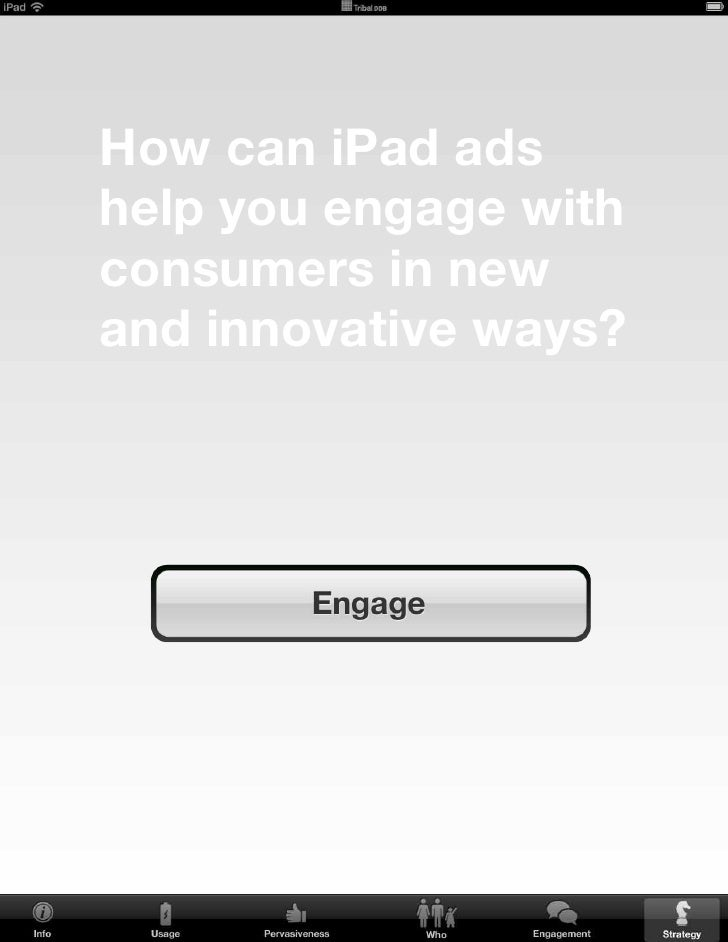 With the iPad, brands should move beyond the static notion of print ads and towards an interactive and immersive experienc...