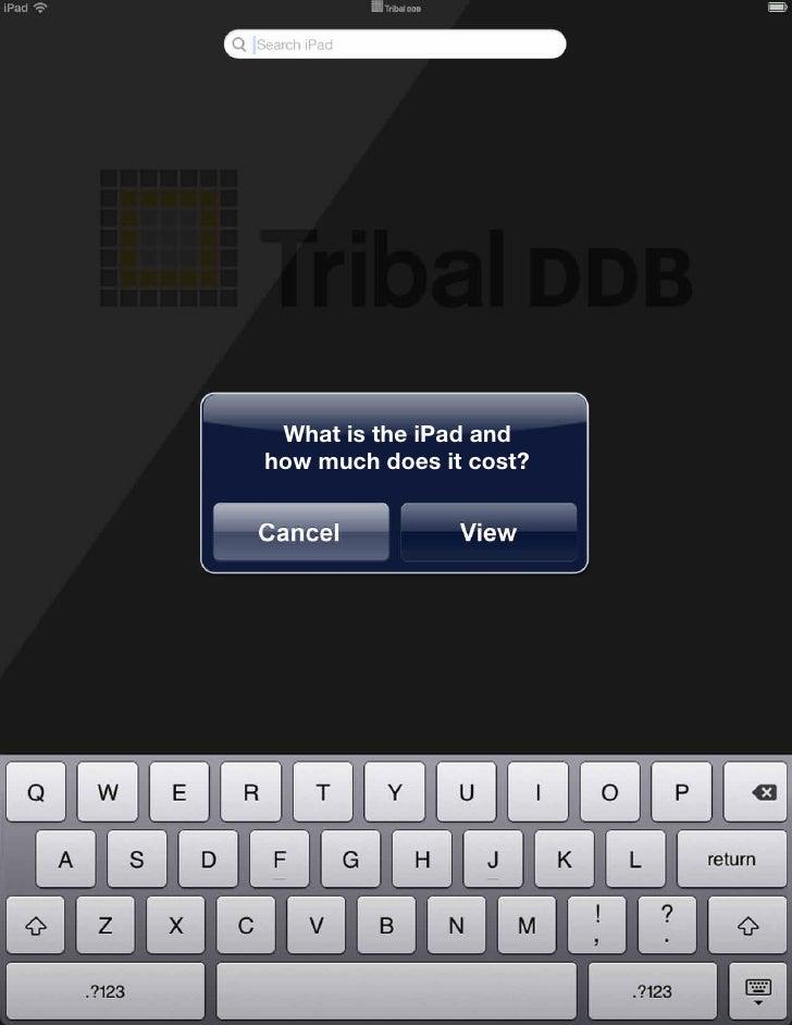 Tribal DDB iPad Briefing Slide 3