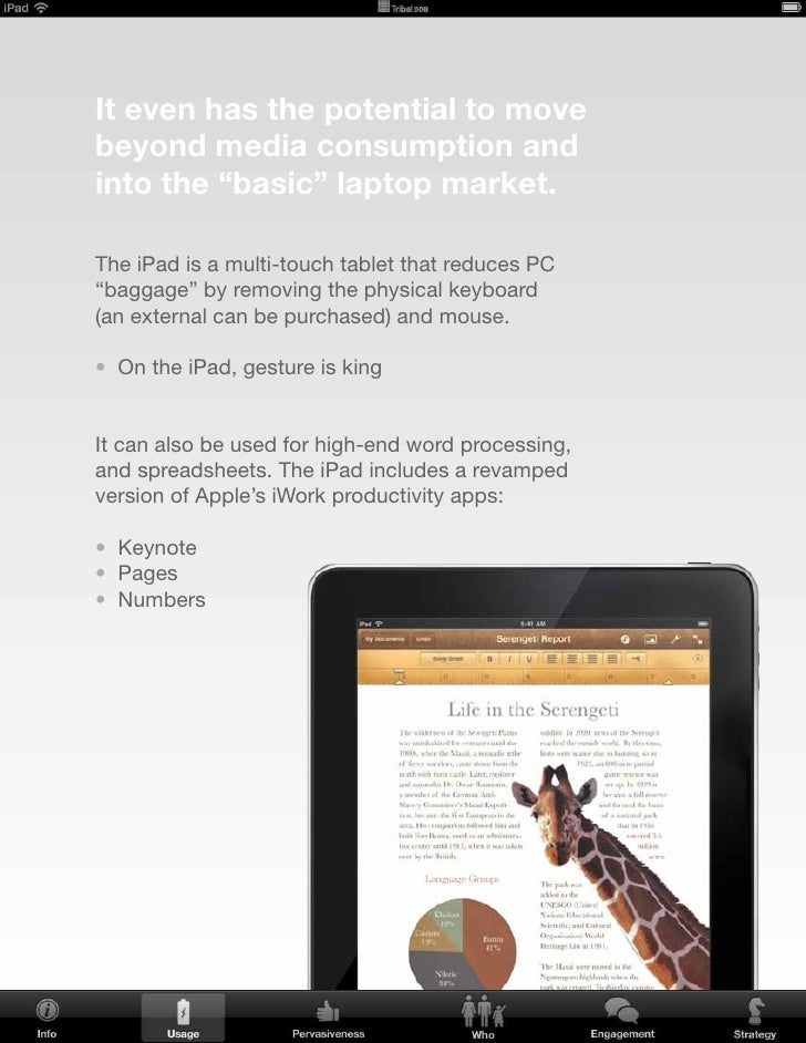 Surprisingly, one study found the top 4 planned uses for the iPad were: • Mobile productivity  • Replacement for a basic l...