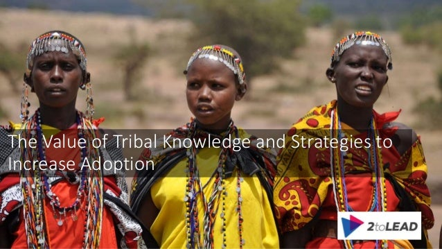 The Value of Tribal Knowledge and Strategies to Increase Adoption