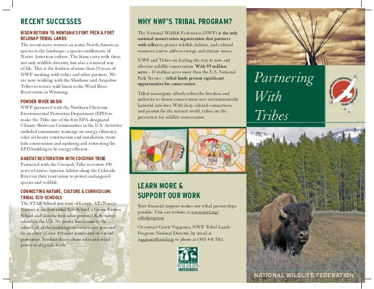 National Wildlife Federation Tribal Lands Partnerships Brochure