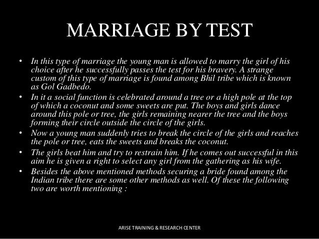 The type of man to marry