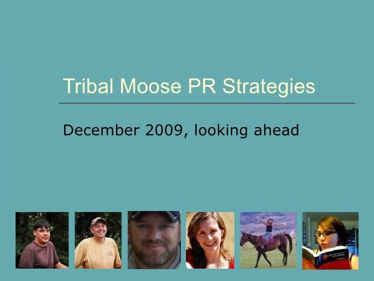 Tribal Moose PR Strategies December 2009, looking ahead
