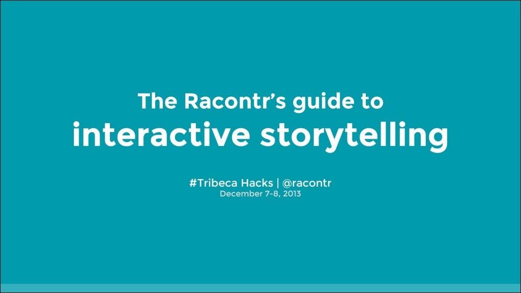 Tribeca Hacks Racontr keynote