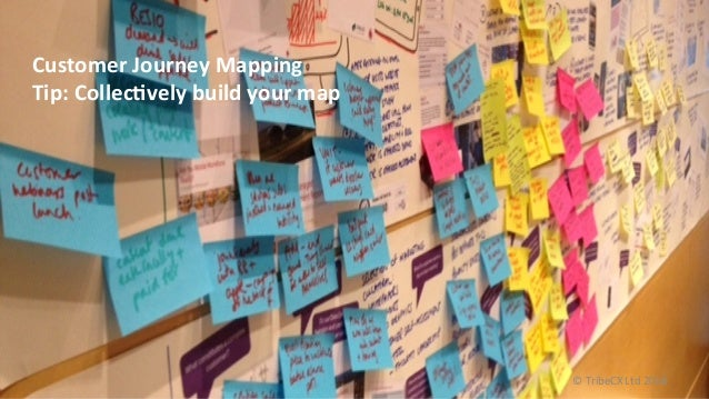 Customer  Journey  Mapping     Tip:  CollecNvely  build  your  map   ©  TribeCX  Ltd  2016