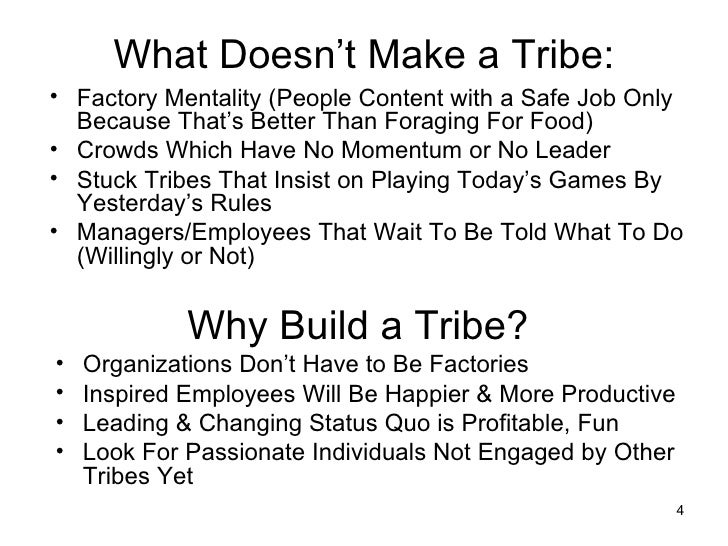 Notes On Seth Godins Book Tribes